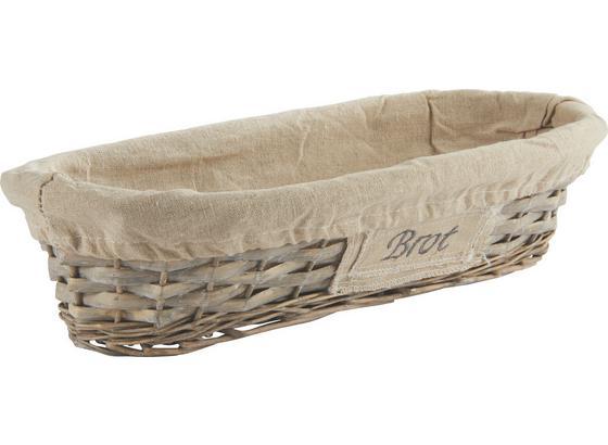 Košík Na Chlieb Oliver - sivá, Romantický / Vidiecky, drevo/prírodné materiály (41/9/18cm) - Mömax modern living