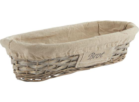 Košík Na Pečivo Oliver - šedá, Romantický / Rustikální, dřevo/přírodní materiály (41/9/18cm) - Mömax modern living