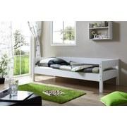 Bett Echtholz Massiv 90x200 Robby, Weiß - Weiß, KONVENTIONELL, Holz (90/200cm) - Livetastic