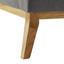 Pohovka Mina - sivá, Moderný, drevo/textil (190/81/78cm) - Modern Living