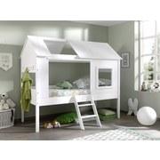 Hausbett Charlotte 90x200 cm Weiß - Weiß, KONVENTIONELL, Holzwerkstoff (90/200cm) - MID.YOU