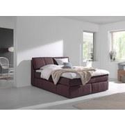 Boxspringbett Rosa 160x200 cm Braun - Schwarz/Braun, MODERN, Textil (160/200cm) - Carryhome