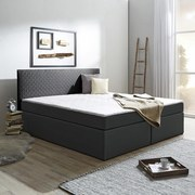 Boxbett mit Topper Winona 180x200 cm Hellgrau - Hellgrau, Design, Holzwerkstoff/Textil (180/200cm) - Carryhome