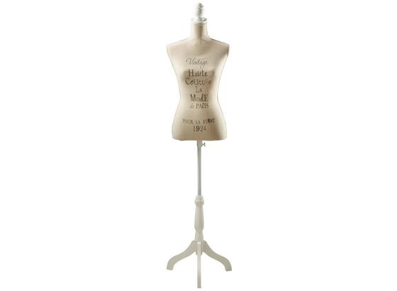 Busta Dekorační Mannequin - přírodní barvy, Romantický / Rustikální, dřevo/textil (37/160/37cm)