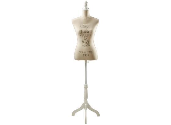 Dekoračná Busta Mannequin - prírodné farby, Romantický / Vidiecky, drevo/textil (37/160/37cm)