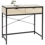 Schreibtisch Riotorto - Schwarz/Sonoma Eiche, LIFESTYLE, Holzwerkstoff/Metall (84/75/45cm) - Livetastic