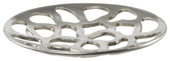Dekoschale Ø 46 cm - Silberfarben, MODERN, Kunststoff (46/5,5cm)