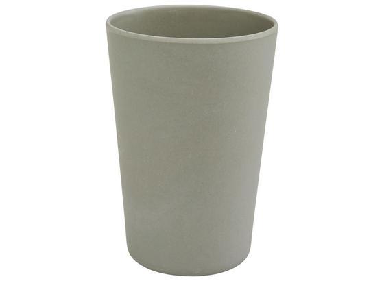 Pohár Anabel - šedá, Natur, přírodní materiály/umělá hmota (9/13cm) - Zandiara