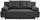 Boxspringsofa Ines B: 203cm - Chromfarben/Graphitfarben, MODERN, Holz/Textil (203/96/102cm) - Luca Bessoni