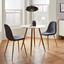 Jedálenský Stôl John - farby dubu/biela, Moderný, kov/drevo (80/76cm) - Modern Living