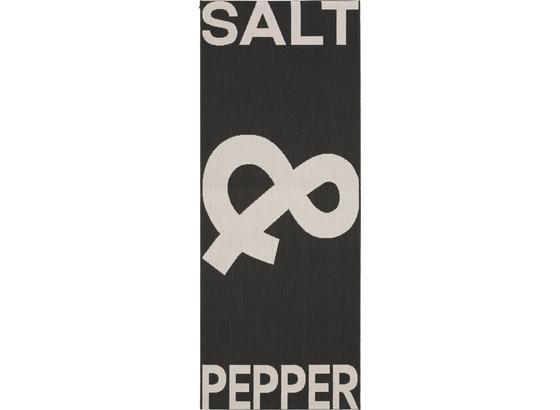 Hladko Tkaný Koberec Pepper & Salt - čierna, Štýlový, textil (80/200cm) - Mömax modern living