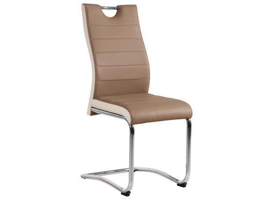 Houpací Židle Twizy - bílá/barvy chromu, Konvenční, kov/textil (43/98/58cm)