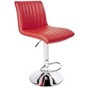 Barhocker Party Rot - Chromfarben/Rot, MODERN, Textil/Metall (43/91-112/54cm) - MID.YOU