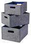 Aufbewahrungsboxen Filz, Set 3tlg. - Blau/Grau, Textil