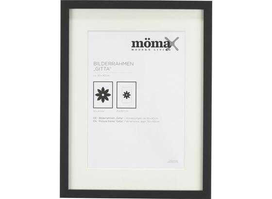 Rám Na Fotky Čierna - čierna, Moderný, kompozitné drevo/sklo (30/40/3,6cm) - Mömax modern living
