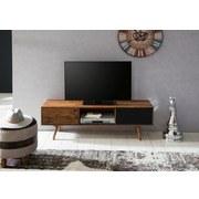Lowboard Repa B: ca. 140 cm - Sheeshamfarben/Schwarz, Design, Holz (140/45/35cm) - Carryhome