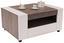 Dohányzóasztal Toronto - Fehér/Sötétszürke, modern, Faalapú anyag (110/48,3/75cm) - Ombra