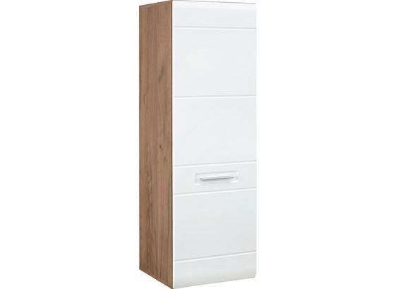 Závěsný Díl Avensis - bílá/barvy dubu, Moderní, kompozitní dřevo (40,3/123,4/37,1cm) - Luca Bessoni
