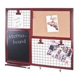 Memoboard Memo B: ca. 65 cm - Rot/Schwarz, Trend, Naturmaterialien/Metall (65/57/6cm) - Carryhome
