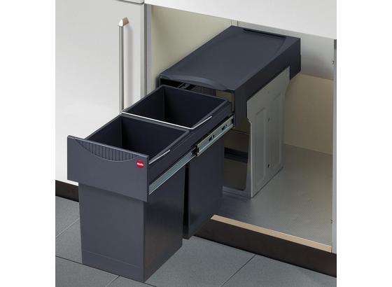 Abfallsammler Tandem 3666-10 - Anthrazit, Basics, Kunststoff/Metall (24,2/40/49cm)