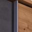 Skriňa S Posuvnými Dvermi Moon 58-710-r9 - farby dubu/tmavosivá, Moderný, kompozitné drevo (271/211/59cm)