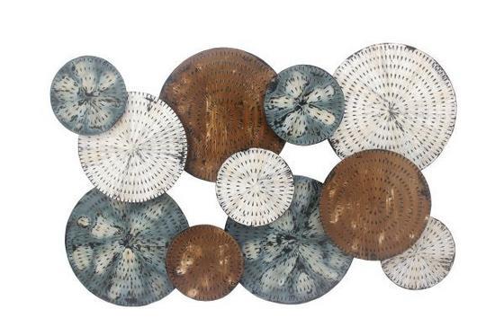 Nástenná Dekorácia Paul - hnedá/modrá, Štýlový, kov (120/80/5,5cm) - MÖMAX modern living