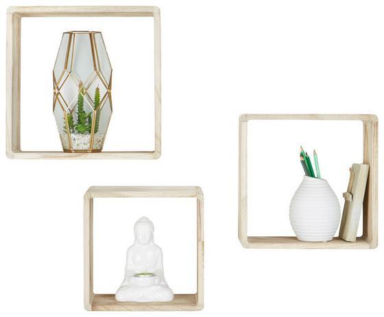 Sada Nástěnných Regálů Toby-exklusiv- - přírodní barvy, Moderní, dřevo (//null) - Mömax modern living