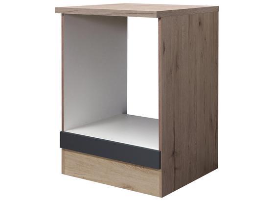 Unterschrank Shadow   Hu60 - Eichefarben/Grau, MODERN, Holzwerkstoff (60/85/60cm)