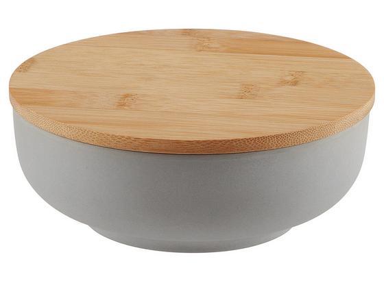 Mísa S Krytem Anabel - S - šedá/přírodní barvy, Natur, dřevo/přírodní materiály (15,3/5,4cm) - Zandiara