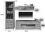 Wohnkombination Tizio 6 - Eichefarben/Alufarben, MODERN, Holzwerkstoff (243/206/50cm)
