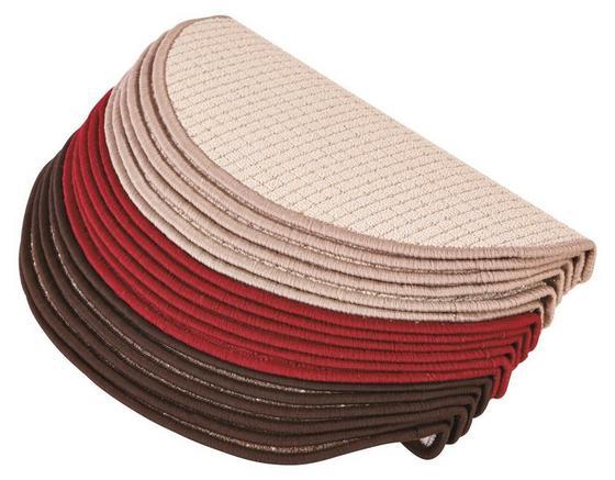 Stufenmatte Birmingham 25x65 cm - Beige/Braun, KONVENTIONELL, Textil (25/65cm)