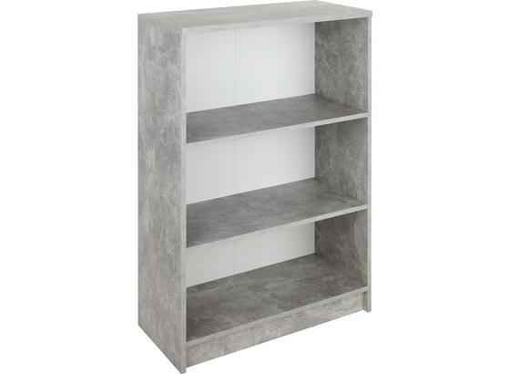 Regál 4-you New Yur02 - šedá/bílá, Moderní, kompozitní dřevo (74/111,5/34,6cm)