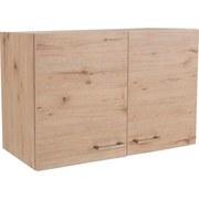 Küchenoberschrank Riva B: 100cm Eiche Dekor - Eichefarben, MODERN, Holzwerkstoff (100/54/32cm)