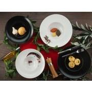 Pastatellerset Roma Gourmet 4er Set Weiß - Weiß, KONVENTIONELL, Keramik (27cm)