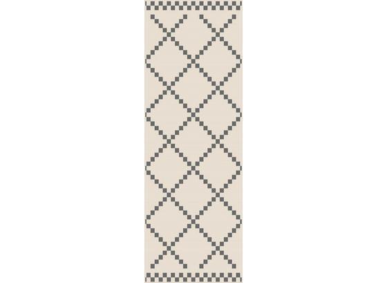 Hladko Tkaný Koberec Edgar 1 - krémová/strieborná, Moderný, textil (80/200cm) - Modern Living