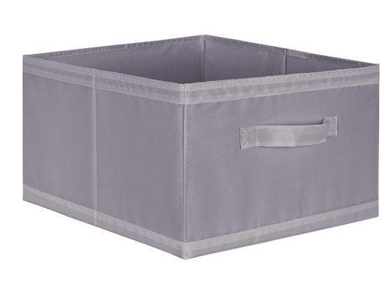 Uskladňovací Box Kläck -sb- - sivá, textil (31/20/33,5cm) - Mömax modern living