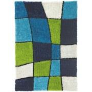 Hochflor Teppich Blau/Grün Fancy 120x170 cm - Blau/Grün, KONVENTIONELL, Textil (120/170cm) - Luca Bessoni