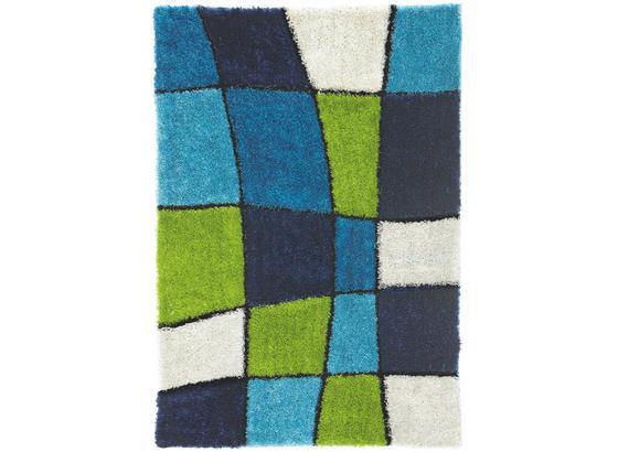 Hochflorteppich Fancy 160x230 cm - Blau/Grün, KONVENTIONELL, Textil (160/230cm) - Luca Bessoni