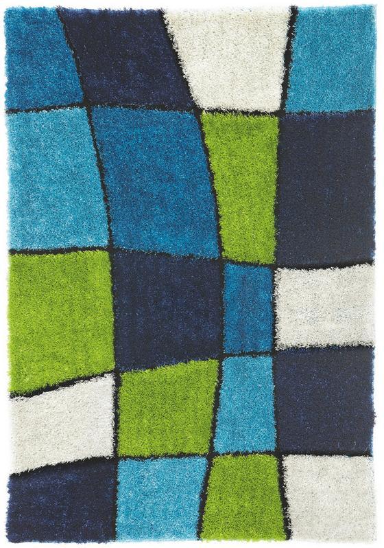 Shaggy Szőnyeg Fancy - kék/zöld, konvencionális, textil (160/230cm) - LUCA BESSONI