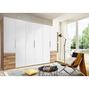 Drehtürenschrank Level 36a 300cm Weiß/eiche Dek - Eichefarben/Weiß, MODERN, Holzwerkstoff (300/216/58cm)