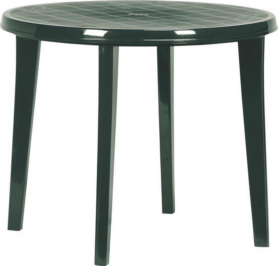 Kerti Asztal Lisa - zöld, konvencionális, műanyag (90/73cm)