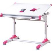 Jugendschreibtisch Neigbar B: 100 cm Weiß - Pink/Weiß, KONVENTIONELL, Holzwerkstoff/Metall (100/69-84/66cm) - Carryhome