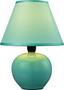 Asztali Lámpa Cindy - Zöld, konvencionális, Kerámia/Textil (18/23/cm) - Ombra