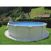 Stahlrahmenpool Set Steely Supreme Ø 460 X H 132 cm - Weiß, MODERN, Kunststoff/Metall (460/132cm)