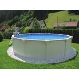 Stahlrahmenpool Set Steely Supreme Ø 550 X H 132 cm - Weiß, MODERN, Kunststoff/Metall (550/132cm)