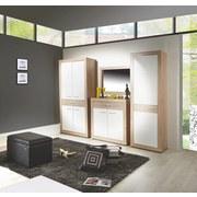 Garderobenkombination Malta San Remo 2 - Eichefarben/Weiß, MODERN, Holzwerkstoff (255/197/36cm)