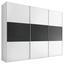 Schwebetürenschrank 336 cm Includo - Anthrazit/Weiß, MODERN, Holzwerkstoff (336/222/68cm)