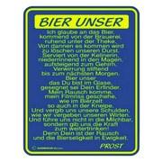 Dekoschild Blechschild Bier Unser... - Multicolor, Basics, Metall (17/22cm)