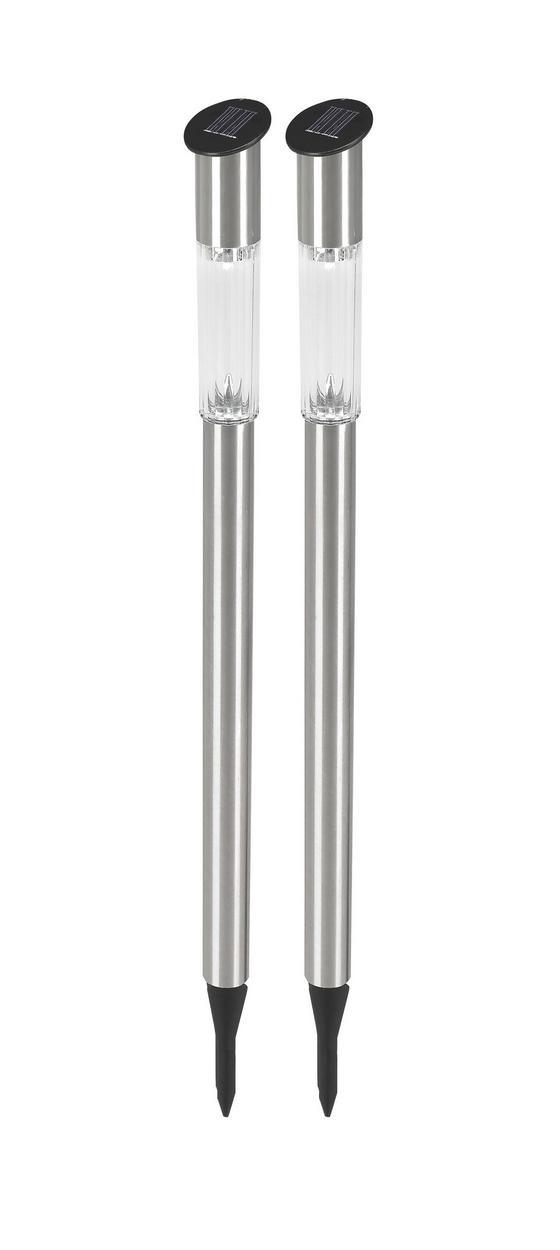 Solarleuchte Rebecca - Silberfarben, KONVENTIONELL, Kunststoff/Metall (5,5/70cm) - Homezone
