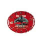 Wanduhr Repair - Rot, MODERN, Metall (49/39/3cm)